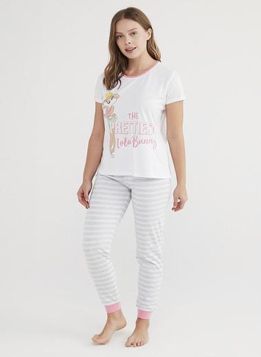 Penti Kadın Çok Renkli Lola Bunn Pijama Takım PN3FUIY121IY Renkli